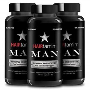 پک سه تایی قرص تقویت کننده مو هیرتامین مخصوص آقایان
