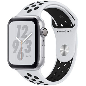 ساعت هوشمند اپل واچ 4 مدل Nike 40mm Silver Aluminum Case with Pure Platinum/Black Nike Sport Band